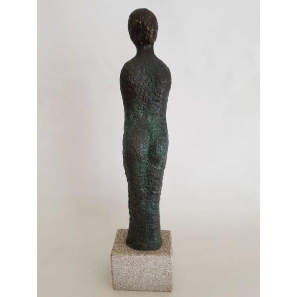 Obras de arte, escutura de bronce, maternidad embarazada