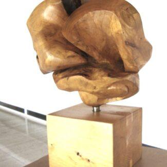 escultura en madera, escultura de madera tallada