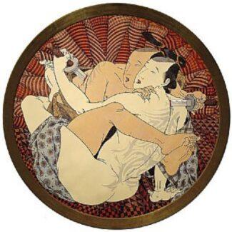Obra Grafica Original, Aguafuerte Iluminada a mano, ai tokio 5 samurais