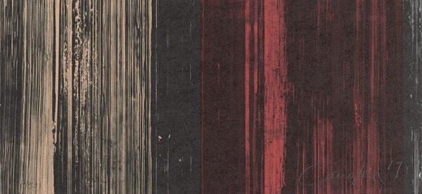 Abstraccion Arte, Litografía de rafael canogar, espejismos de la memoria