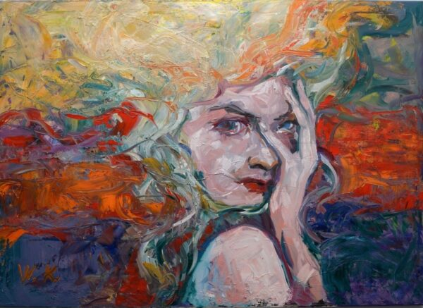 Óleo sobre lienzo, Fear Sara M
