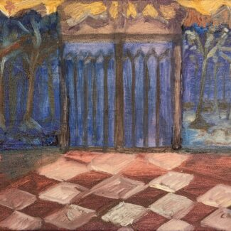 Venta Arte Online, Entrada de castillo,Óleo sobre tela