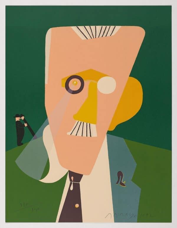 Compra Arte Madrid, Retrato de James Joyce, Eduardo Arroyo